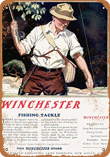 Wall-Color 9 x 12 Metal Sign - 1950 Winchester Fishing Tackle - Vintage Look