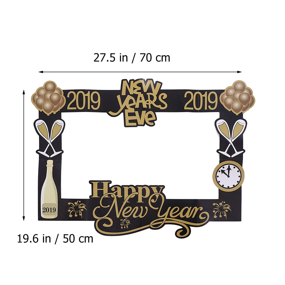Amosfun Año Photo Booth Props Marco de Fotos 2019 Felicidad ...