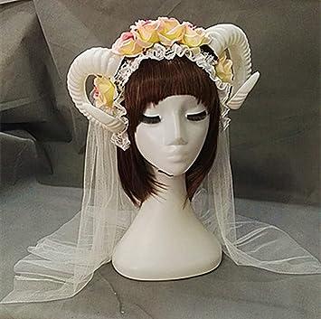 CLEARNICE Hecho A Mano Lolita Vestido Elegante Cuernos ...