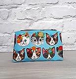 Frida Kahlo inspired cat cosmetic bag - Handmade in England
