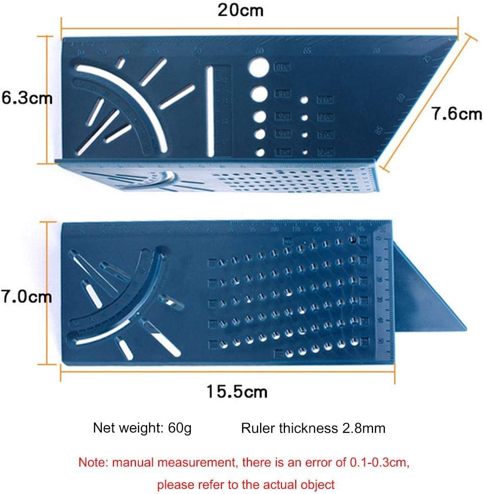 Savlot R/ègle dangle R/ègle de Mesure dangle carr/é de 45 degr/és et 90 degr/és R/ègle de jauge /à Bois 3D Angle Ruler 45 Degree and 90 Degree Square Angles