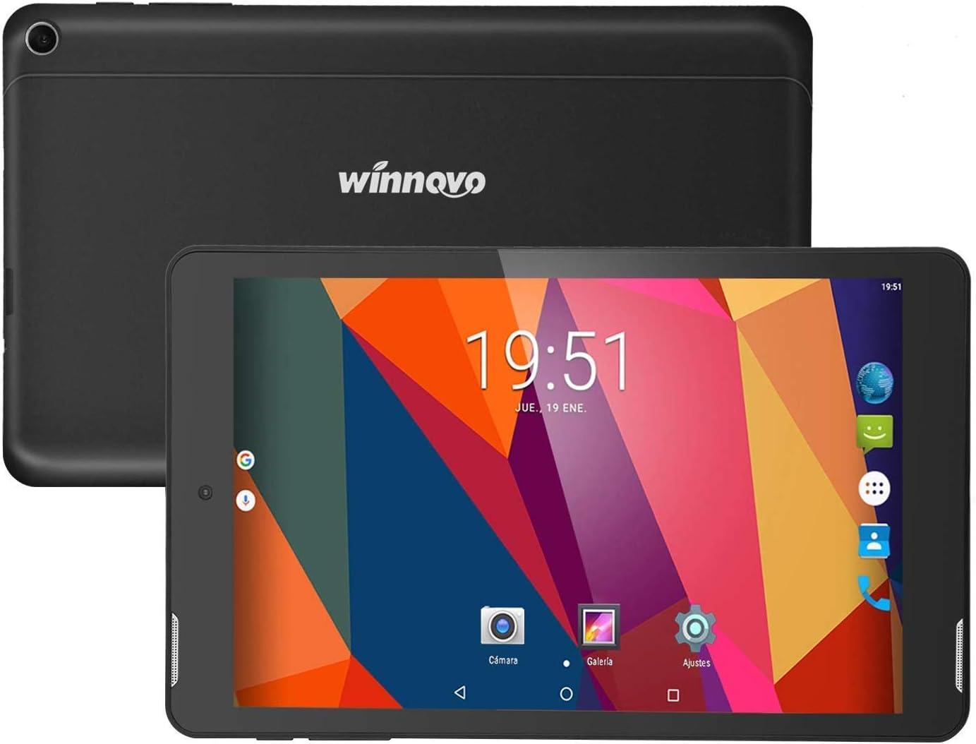 8 Pulgadas Tablet PC Android 8.1 - Winnovo M86 WiFi GPS Phablet Quad Core 16 GB ROM 1GB RAM Bluetooth Cámara Doble FM
