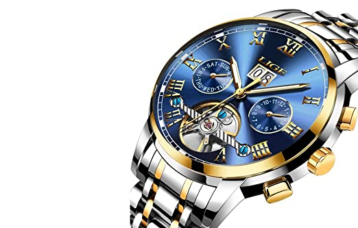 Relojes de Hombre Cronógrafo De Cuarzo De Moda Para Caballero Movimiento Suizo Caja de Acero Inoxidable