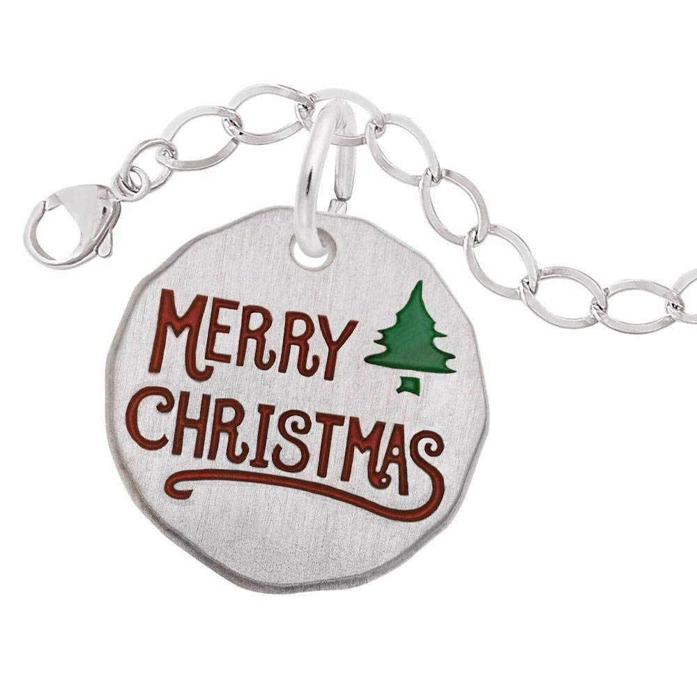 Merry Christmas Rembrandt Charms Engravable