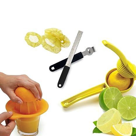 Gemas de cocina profesional limón exprimidor exprimidor rallador de utensilios de cocina – incluye cuchillo,