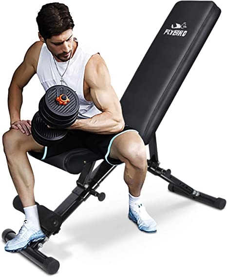 FLYBIRD Adjustable Bench - Utility Weight Bench for Full Body Workout