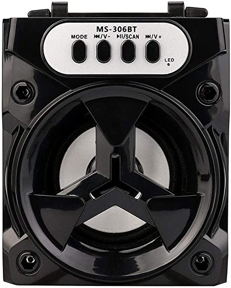 Car Wireless Bluetooth Speaker Portable FM Radio Sub Woofer Receiver Sound Box