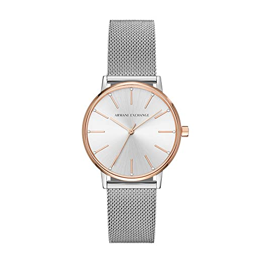 ffee52053895 Buy Armani Exchange Lola Analog Silver Dial Women s Watch - AX5537 Online  at Low Prices in India - Amazon.in