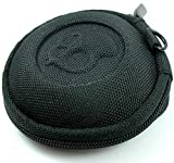 Skullcandy Earphone Handsfree Headset HARD EVA Case - Clamshell/MESH Style with Zipper Enclosure, Inner Pocket & Durable Exterior - Includes Skullcandy Original Stencil