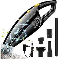 Aspirateur à main, Bukm Batterie Aspirateur sans fil 2200 mAh Wet & Dry Aspirateur de voiture, du bruit – Aspirateur sans fil sans sac avec 120 W Aspirateur cyclonique pour voiture maison