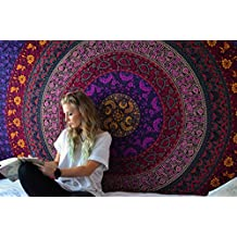 Tapestry Purple Hippy Mandala Dorm Room Divider Bohemian Tapestries Picnic Beach Throw Sheet By Rajrang