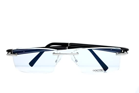 e53e73d2a1 Image Unavailable. Image not available for. Colour  Gold and Wood Rimless  Eyeglasses Frame ...