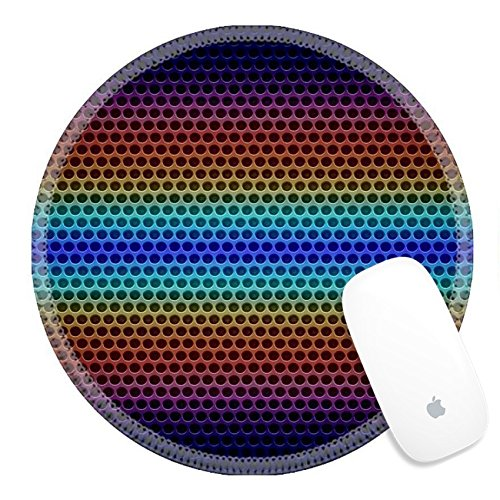Luxlady Round Gaming Mousepad 26916444 Retro Metal mesh background - Heavy Mesh Style Grille