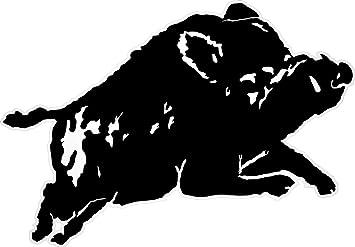Aufkleber Jagd Motiv Syluette Wildschwein Keiler Amazon De Auto