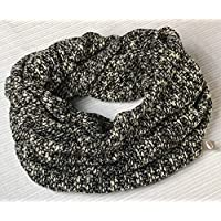 Bufanda Circular Beige-Negro