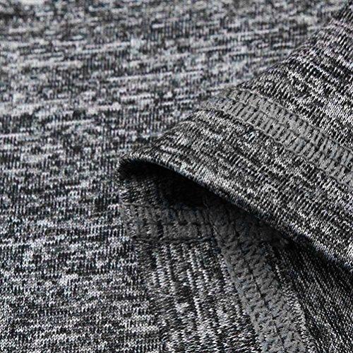 Capri Leggings Basic 3 Grigio Nero Styledresser Maglia Pantaloni Collant sportive Yoga Yoga in Fitness Pantaloni S Leggings Donna Donna Grigio XL Elastico Pizzo 4 qZwa7twxF