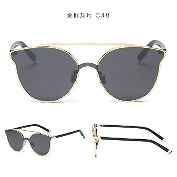 GAOQIANG Gafas De Sol Moda Masculina Tide Card Trend Cara ...