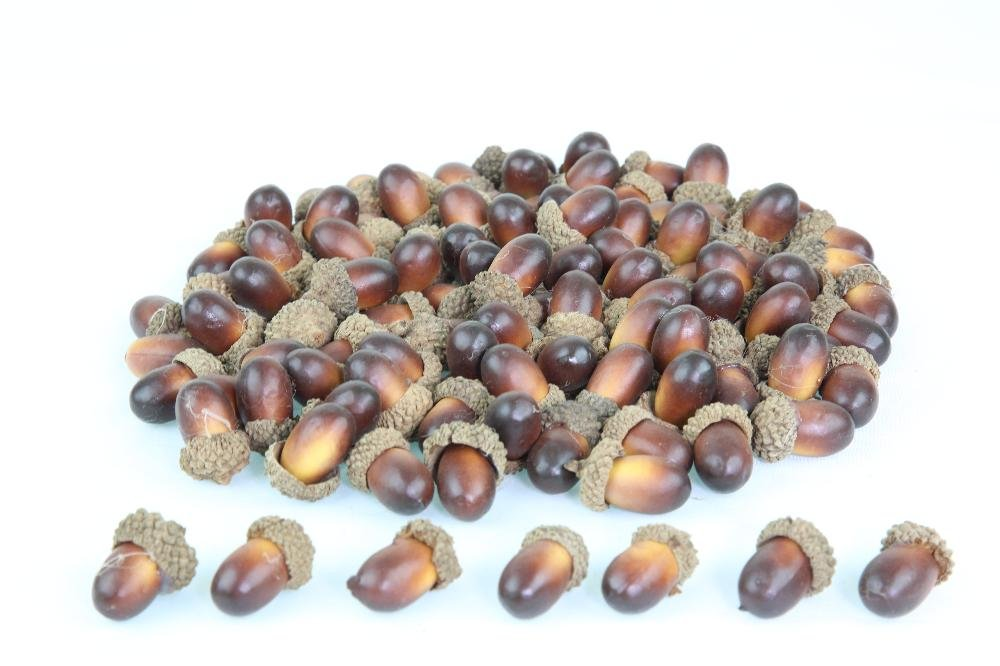CRAFT ACORNS, ARTIFICIAL ACORNS, Lifelike Simulation Small Acorn Decoration for DIY Projects, Home, Kitchen, Party, Many Pack Quantities (100)