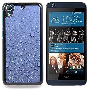 Queen Pattern - FOR HTC Desire 626 & 626s - Water Droplets Blue Wall Pattern Nature - Cubierta del caso de impacto con el patr???¡¯???€????€????