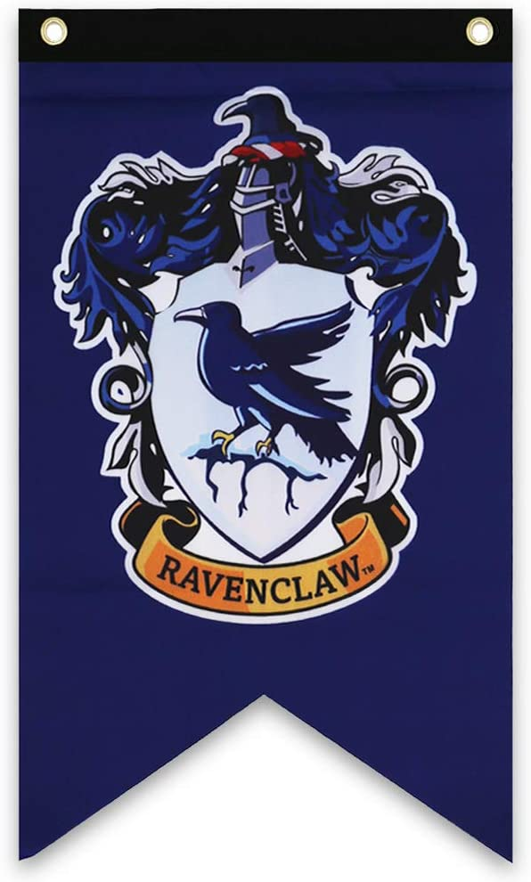 Harry Potter Ravenclaw Wall Banner - Indoor Outdoor Birthday Party Ravenclaw Flag 50 x 30 Inch - Unique Hp Collectible Accessories