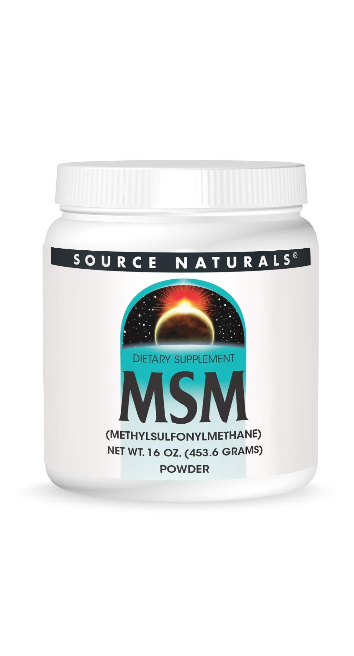 Source Naturals MSM (Methylsulfonylmethane) Powder 16 Ounces(453.6 Grams)