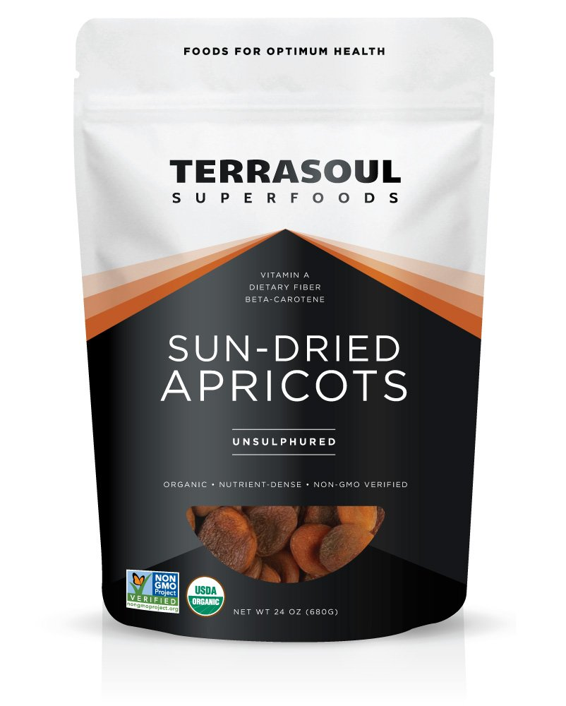 Terrasoul Superfoods Sun-Dried Apricots Unsulphured (Organic), 24 Ounce