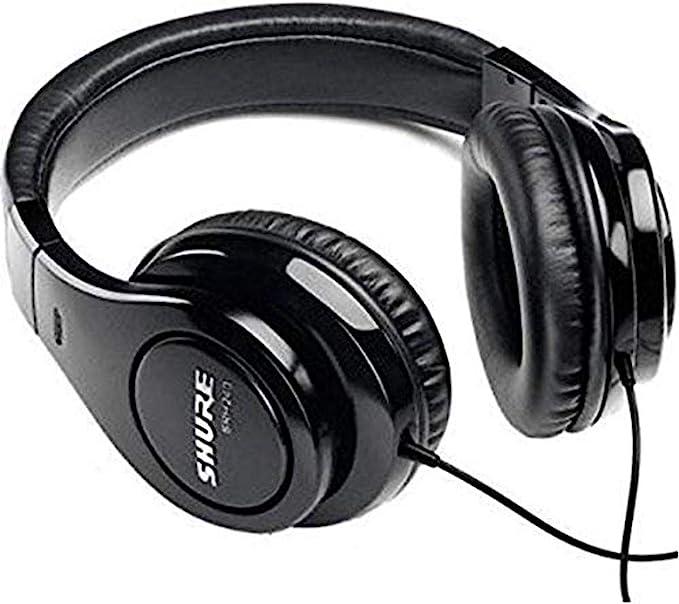Shure Srh240a Geschlossener Kopfhörer Over Ear Geräuschunterdrückend Druckvolle Bässe Und Detaillierte Höhen Schwarz Musikinstrumente