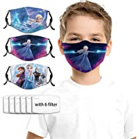 Face Mask Designs 3Packs with 6 Filters Reusable Adjustable Washable Masks Balaclava For Kids Boys Girls Child