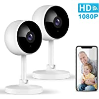Home Security Camera, Littlelf 1080P Indoor WiFi Surveillance IP Camera with Manual Night Vision, 2-Way Audio, Human…