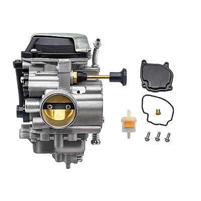 PUCKY Carburetor for Yamaha Bear Tracker YFM250X,YFM250Xh,YFM250B,YFM250 Beartracker Auto Moto 1999-2004: Automotive