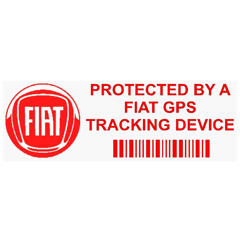 5 x ppfiatgpsred GPS rojo dispositivo de seguimiento de seguridad ventana pegatinas 87 x 30 mm-car, Van alarma Tracker Platinum Place
