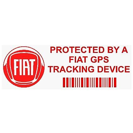 5 x ppfiatgpsred GPS rojo dispositivo de seguimiento de seguridad ventana pegatinas 87 x 30 mm-car, Van alarma Tracker