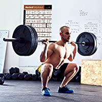 """BARBELL WORKOUT EXERCISE POSTER LAMINATED - Home Gym Weight Lifting Chart - Build Muscle Tone & Tighten - Strength Training Routine - Body Building Guide w/ Free Weights & Resistance - 20""""x30"""" from NewMe Fitness"""