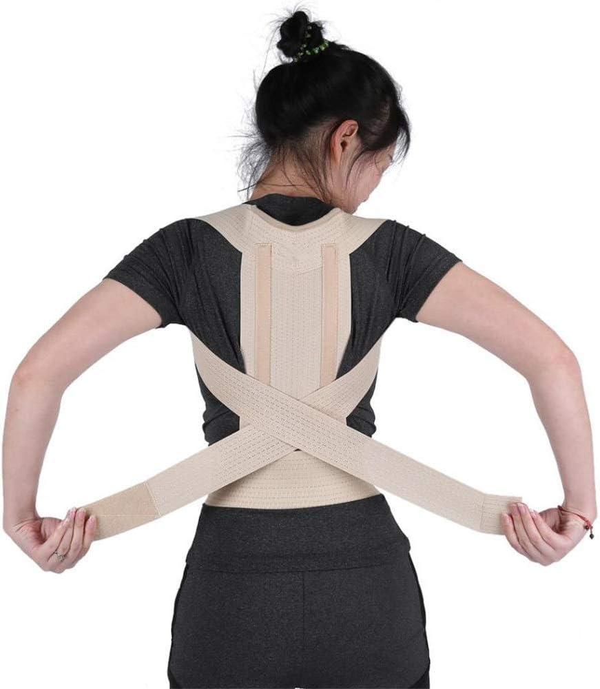 JIUYUE Corset Apoyos para la Espalda Corrector de Postura Soporte para la Columna Vertebral Correa de Soporte Mujeres Hombres Hombro Lumbar Espalda Corsé Correa de corrección de la Postura ortopédica