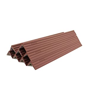 LONGFITE Edge Safety Bumpers Corner Protectors Furniture Table Fireplace Guards Baby Proofing with Wide Coverage and Safe Silicone Material (Dark Brown)