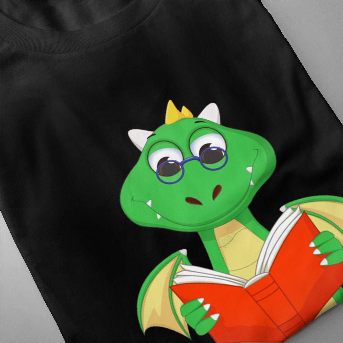 Holygery Mens Cute Dragon Classic Crew Neck Short Sleeve T Shirts