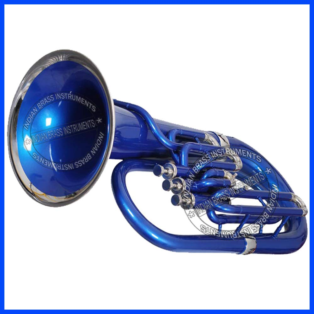 Nasir Ali Eu-3 Euphonium 3 Valve B-flat Blue by NASIR ALI (Image #1)