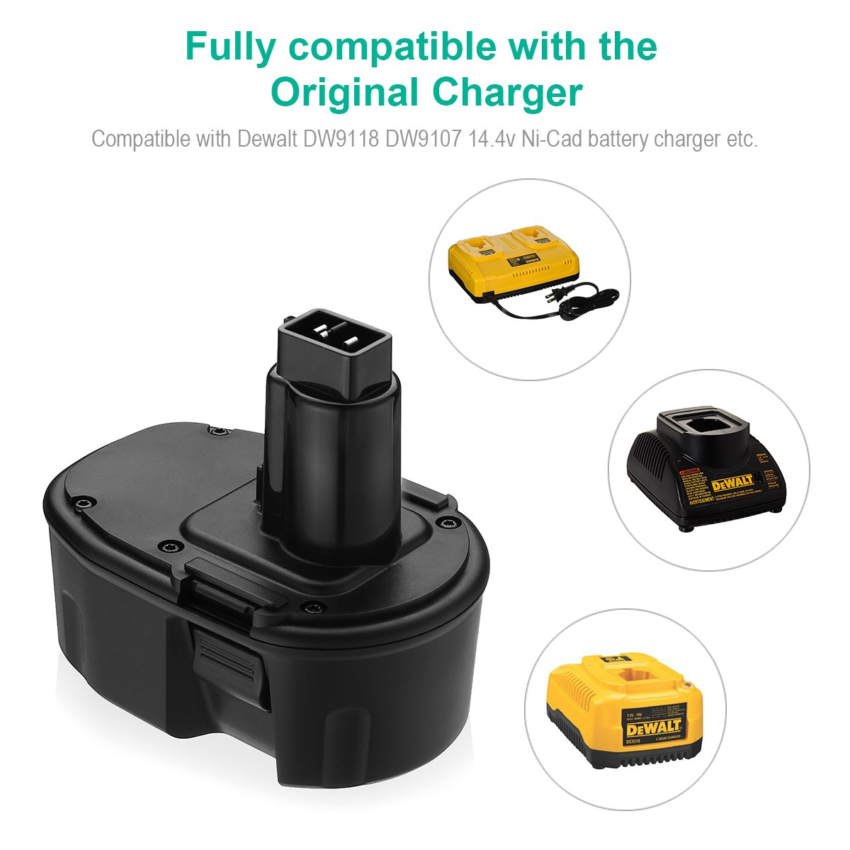 FirstPower 3.5AH 14.4V XRP Battery Replacement for Dewalt DC9091 DW9091 DW9094 DE9038 DE9091 DE9092 DEWALT Power Tool Battery DEWALT XRP DC DW DE Series ( 2 Pack ) by FirstPower (Image #7)