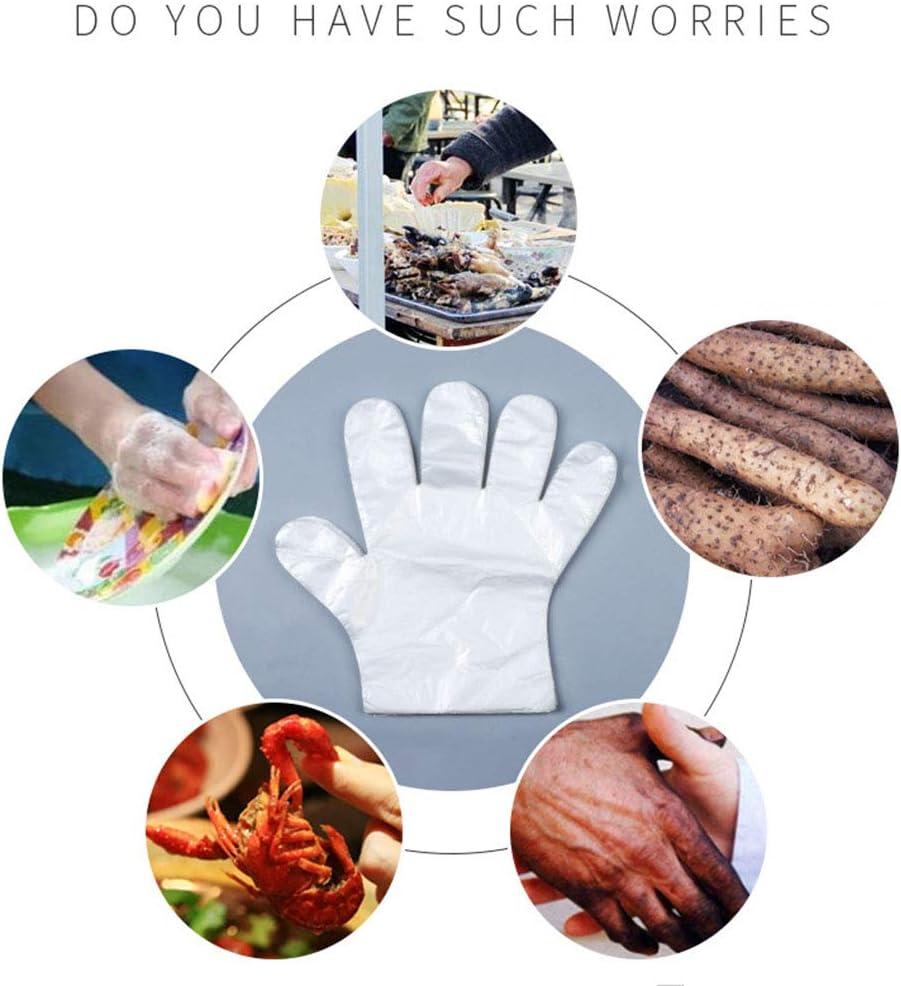 100pcs Plastik Einweghandschuhe Boxed Einweg PE Handschuhe Restaurant Home Service Catering Hygiene K/üche Home Dining Zubeh/ör YHYP 500//200