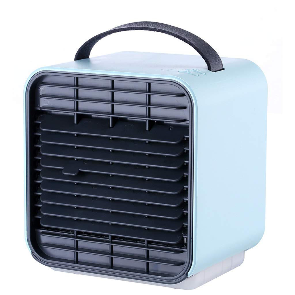 Personal Air Conditioner, Portable Air Cooler,USB Charging Mini Cold Fan Small Air Conditioning Fan Air Cooler,Home Office Dormitory Creative Gifts (Color : Blue) by TJG