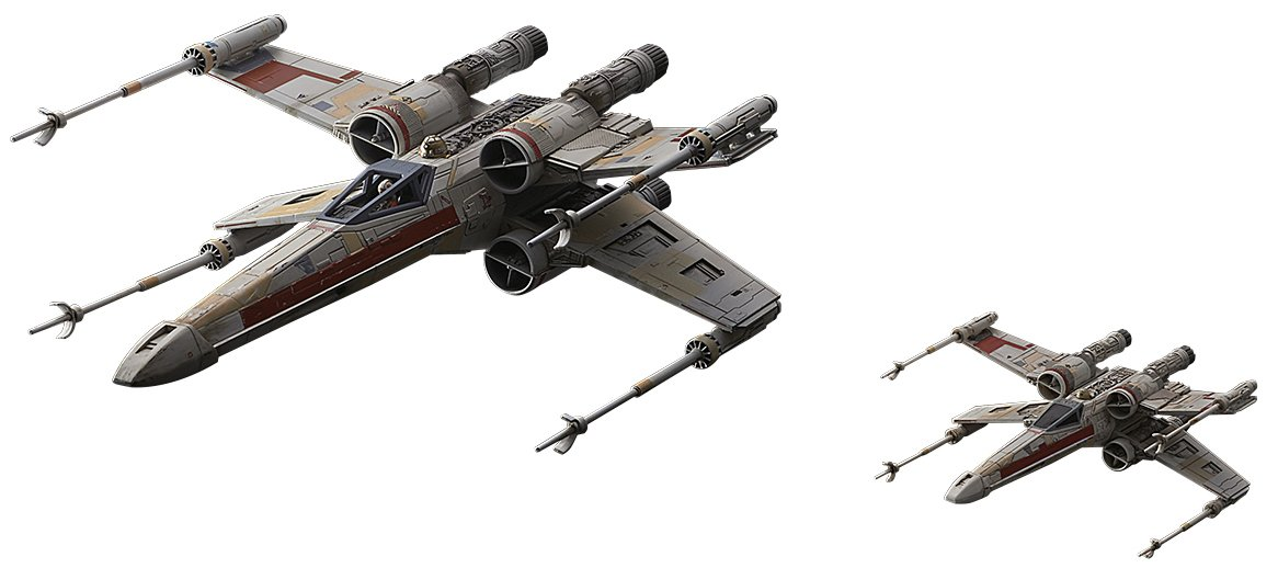 Bandai Hobby Star Wars 1/72 X-Wing Red Squadron (Special Set)