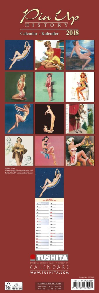 Pin Up History Slim 2018: Kalender 2018 (Artwork Slimline)