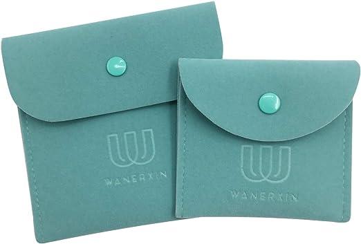 Amazon.com: wanerxin - Juego de 2 bolsas de terciopelo para ...