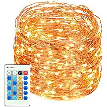 LED String Lights with Remote Control 99ft with 300 Leds Dimmable Fairy String Lights for Bedroom, Patio, Indoor/Outdoor Waterproof Copper Lights for Birthday, Wedding, Party UL Certificate Warm White