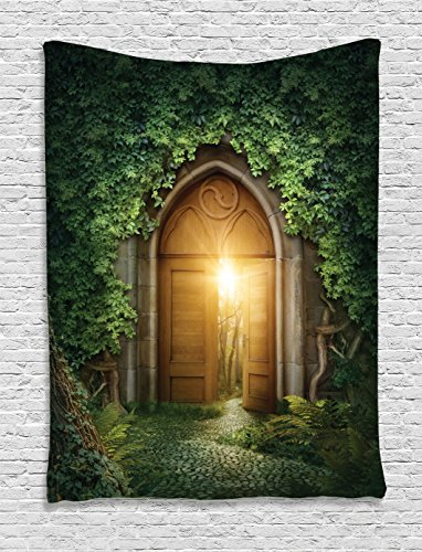 Fantasy House Decor Tapestry Wall Hanging By Ambesonne, Sun