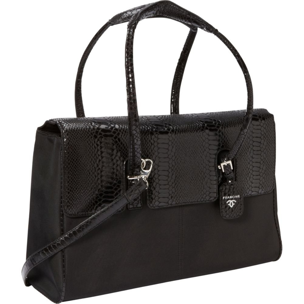 Women In Business Francine Collection - 15.6'' Black Python London Laptop Case by Women In Business