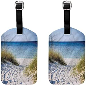 Beach Small luggage tag Clear Sky at Gulf of Mexico (2 PCS) Soft to the touch Hanging on the suitcase