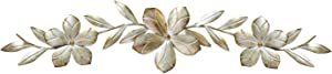 Stratton Home Decor S07705 Flower Over The Door Wall Decor, 38.00 W x 0.75 D x 8.00 H, Champagne
