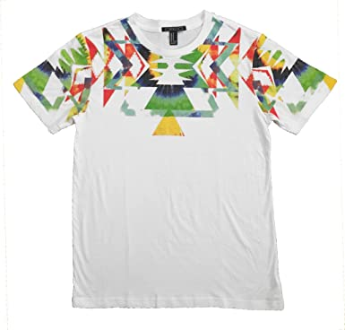 f0a36a480bbb81 Image Unavailable. Image not available for. Color  Mens Tie Dye Sublimated  Rainbow Multi Color Print T Shirt Short Sleeve Slim Fit White