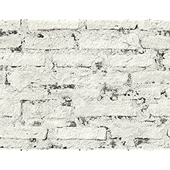 Mayflower Wallpaper Monohassett  Graphite  White Black Gray Distressed Brick  Modern. York Wallcoverings Modern Rustic Rustic Brick Wallpaper 8 X 10